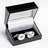 Charming Rewards - Cufflinks (triathlon)-0
