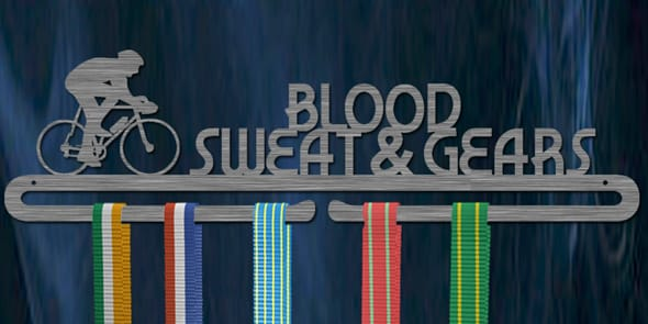 Blood, sweat and gears medal hanger-0